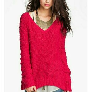 Free People Songbird Slouchy Popcorn Sweater